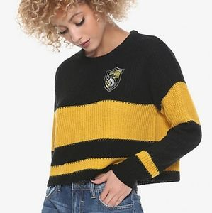 Warner Bros. Sweaters - Harry Potter Hufflepuff Quidditch Cropped Sweater